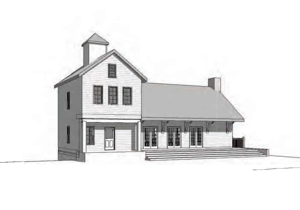 Common House 3D view Pendergrast Farm Conservation Community